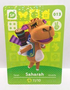 b65dc39c5 Nintendo Amiibo Card Animal Crossing Happy Home Design Card Saharah 013/100
