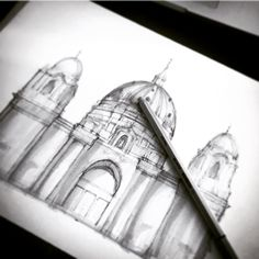 Started Berlin Cathedral (2016) in marker and ultra thin light gray fineliner #design #art #sketch #sketching #draw #drawing #paint #painting #painter #artist #marker #pen #pencil #architecture #architectureporn #arcitecture #berlin #cathedral
