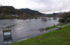 Estado en que se encontraban las Termas de Muiño das Veigas, inundadas por las aguas del Miño
