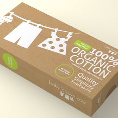 100% Organic Baby Clothing Packaging Design                                                                                                                                                                                 More