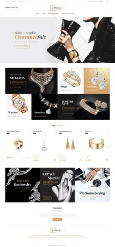 Need a functional yet stylish Jewelry Store PrestaShop Template? Achieve the desired look and feel of your web store by means of Jewelrix packed-full with custom TM modules. Banner Site, Web Banner, Banners, Sites Layout, Web Layout, Jewelry Banner, Template Web, Website Template, Templates