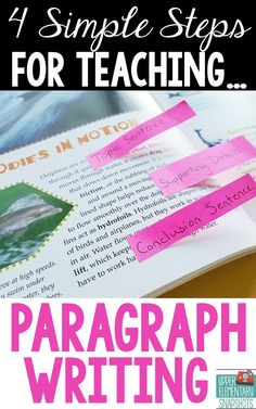 4 Simple steps to teaching paragraph writing by upper elementary snapshots