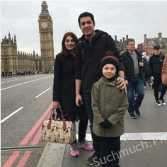 Iqrar ul Hassan with his Wife and Son Spending Vacations in London, Pakistani Jurnalist, Jurnalist , newscastor, Sar-e-Aam.