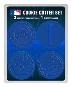 Chicago Cubs Cookie Cutter Set #zulily #zulilyfinds