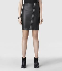 AllSaints Rose Zip Pencil Skirt | Womens Skirts