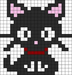 Drawn pixel art easy - pin to your gallery. Explore what was found for the drawn pixel art easy Perler Bead Designs, Perler Bead Art, Perler Beads, Pixel Art Chat, Easy Pixel Art, Kandi Patterns, Hama Beads Patterns, Beading Patterns, Beaded Cross Stitch