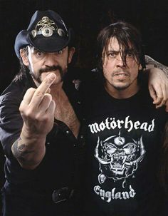 Dave Grohl and Lemmy