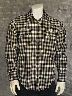 Jackard Solid Shirt Short Sleeve Horse Design Made in USA Cowboy Western Shirt