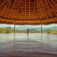 Haramara Retreat in Sayulita, Nayarit - View upcoming yoga retreats & workshops and explore similar venues on NomadYOGI: The Yogi's Social Network. Meditation Rooms, Relaxation Room, Spa Treatment Room, Mexican Furniture, Wellness Resort, Outdoor Yoga, Roof Design, Yoga Retreat, Deco