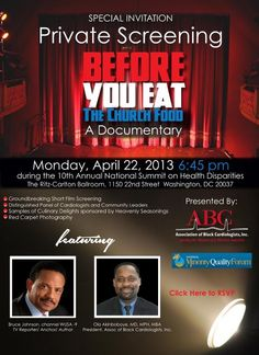 """""""Before You Eat the Church Food"""" Documentary a Must See ~ Sanctified Church Revolution    http://sanctifiedchurchrevolution.blogspot.com/2013/04/before-you-eat-church-food-documentary.html#.UX1jf8p4-Pw"""