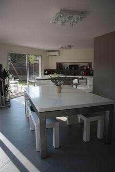 billard table design inox blanc