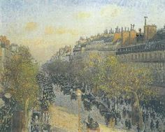 Boulevard Montmartre: Sunset by Camille Pissarro Handmade oil painting reproduction on canvas for sale,We can offer Framed art,Wall Art,Gallery Wrap and Stretched Canvas,Choose from multiple sizes and frames at discount price. Mary Cassatt, Paul Gauguin, Renoir, Vincent Van Gogh, Pierre Bonnard, Henri Matisse, Claude Monet, Camille Pissarro Paintings, Post Impressionism
