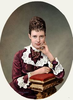 Princess Dagmar of Denmark ,later Maria Feodorovna (1847-1928), colorized and very young by unknown artist. She was the wife of Alexander III (1845-1894), Russia and Mother of Tsar Nicholas ll