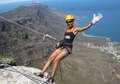 Experience the famous Table Mountain differently-by abseiling down it. For information on other adventurous incentive activities; get in contact with South African DMC - The Inside Edge Abseiling, Table Mountain, Dares, South Africa, African, Adventure, Cliff, Travel, Activities