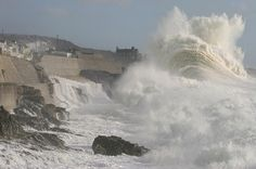 As High As The Cliff Tops This Porthleven Storm is Set To Be A Record Breaker, Lets Hope That's All That Gets Broken In Cornwall.