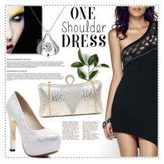 One-shoulder dress by duma-duma on Polyvore