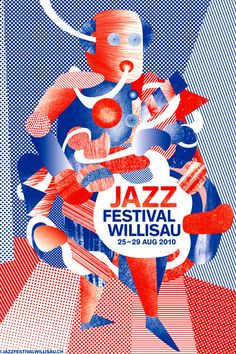 Willisau Jazz Festival has always been a part of Annik Troxler's life. It's no surprise that these posters for the festival are feasts for the eyes. Graphic Design Print, Graphic Design Typography, Graphic Design Illustration, Graphic Design Inspiration, Jazz Festival, Festival Posters, Jazz Poster, Poster Ads, Cover Design