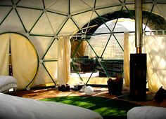 "With the increasing popularity of glamping, all manner of temporary structures and dwellings are ""popping up"" as potential weekend getaways. This glamping"