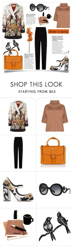 """""""Winter to Spring (2)"""" by andragabriela ❤ liked on Polyvore featuring Etro, Isolde Roth, Balenciaga, Burberry, Dolce&Gabbana and Prada"""