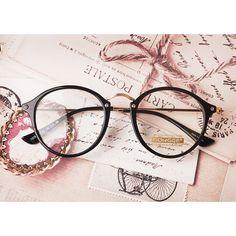 1920s Vintage oliver retro round eyeglasses e1025 black peoples frames findhoon
