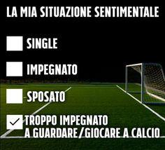 Anche la vostra situazione sentimentale è la stessa?  #calcio #passione #amore 