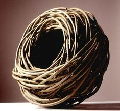 Lizzie Farey, Scottish Basketmaker. Ash piece 2003