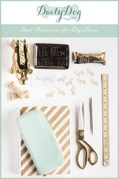 Desk Accessories for Dog Lovers | ©Alice G Patterson Photography, gift ideas for dog lovers, dog office supplies