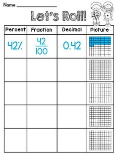 math worksheet : fractions decimals and percents worksheets!!  teaching tips and  : Decimal Fraction Percent Worksheet