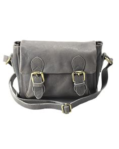 Shop Cut n' Paste Holborn Leather Crossbody Grey and the full Cut n' Paste collection at Lufli.com. We offer a unique collection of women's handbags, wallets and accessories. #greyhandbag #lufli
