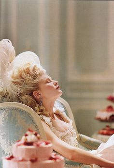 Marie Antoinette movie still with Kirsten Dunst. Sofia Coppola France, French, Versailles, Let them eat Cake, Paris.
