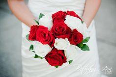 Red & White Wedding Bride's Bouquet