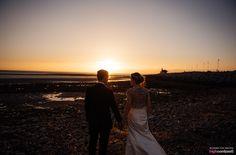 Midland Hotel, Morecambe Wedding. Sunset Couple Shot