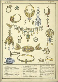 "Examples of fine Roman jewelry ""The fine draperies of the Greco-Roman costumes. Greek Fashion, Roman Fashion, Ancient Rome, Ancient History, European History, Ancient Aliens, Ancient Greek, American History, Ancient Greece Fashion"