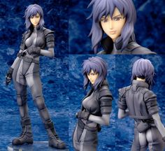 Motoko Kusanagi from Ghost in the Shell comes in many versions from the movie (here in her combat suit), to the Manga series and television versions. Most reflect the dark brooding nature of a cybernetic being with human memories, that thinks these thoughts are implanted and was never human to begin with. All while working for a special division of the Japanese police. You get what I'm relaying, right? Purple hair and #Goth outfit looks great nevertheless!