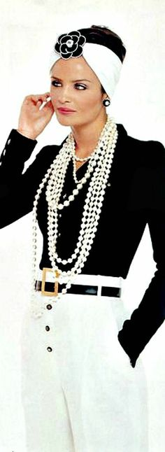 ♔ Chanel...love this minus the headband...it kind of wrecks the outfit