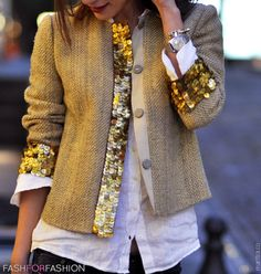 beautiful jacket=channel/sparkle