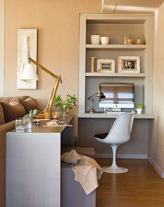 Home office sofa desk 26 super Ideas Home Office Computer Desk, Office Nook, Home Office Space, Home Office Design, Home Office Furniture, Home Office Decor, Home Decor, Office Designs, Office Ideas