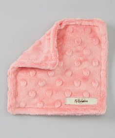 Take a look at this Coral Minky Dot Velour Crinkleez Lovey by My Blankee on #zulily today!