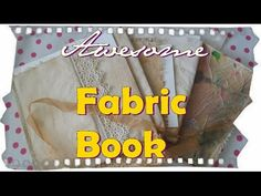 How to prepare the fabric for a Cloth journal, make a fabric journal! books, Thanks for visiting! Fabric Painting, Fabric Art, Fabric Crafts, Fabric Books, Dyi Crafts, Lace Fabric, Fabric Journals, Art Journals, Journal Art