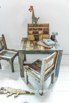 One World Interiors - Scrapwood collection (children table and chairs) - Picture: Paulina Arcklin