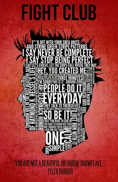 Nice Fight Club creed (source: Typography Tyler Durden Design Art Print by Adam Grey Tyler Durden, Typographic Poster, Typography, Fight Club Quotes, Pochette Cd, Fight Club 1999, Marla Singer, Iconic Movie Posters, Cinema Posters