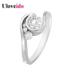 Find More Rings Information about Uloveido Rings for Women Silver Plated Vintage Ring Wedding Jewellery Anel Masculino Bague Engagement Ring New Year Gifts Y142,High Quality engagement ring,China rings for women Suppliers, Cheap rings for women silver from D&C Fashion Jewelry Buy to Get a Free Gift on Aliexpress.com
