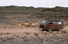 Mit einem VW-Bus über das Fadnoun-Plateau in Algerien. Manfred, Vw Bus, Pictures, Travel Report, Germany, Viajes