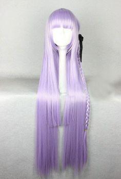 Cosplay harajuku purple straight wigs