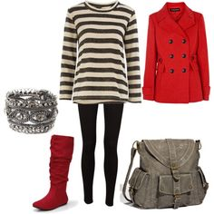 Red Jacket and Red Boots
