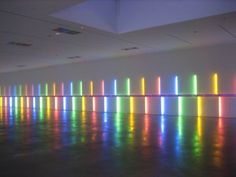 Site-specific installation by Dan Flavin, 1996, Menil Collection, Houston Texas