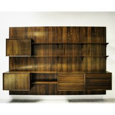 danish teak wallmounted shelving unit by poul cadovius circa 1960s danishes modern and shelves