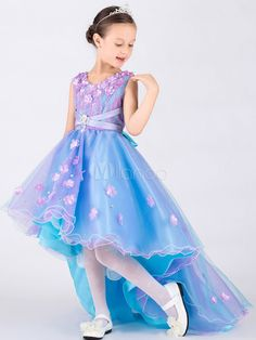 Purple And Blue Beautiful Girls Dresses A LineLong Front Short Back Lace Tulle Satin Flower Girl Dresses Little Girls Pageant Dresses With Little Girl Pageant Dresses, Cheap Flower Girl Dresses, Flower Girls, Girls Dresses, Prom Dresses, Cheap Dress, Formal Dresses, Bridesmaid Dresses, Luulla Dresses