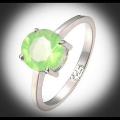 Beautiful Brand  Green CZ Ladies Ring!! Beautiful Brand  Prehnite 925 Stamped Sterling Silver Filled Gemstone?Ring!!    SIZE: 6  Can Order Ring Size 5 6 7 8 9 10 11 12 PR21 Unknown Jewelry Rings