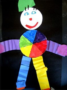 Color Wheel Clown, kinder
